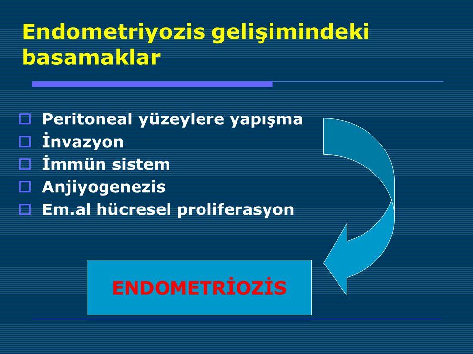 Endometriyozis gelişimindeki basamaklar