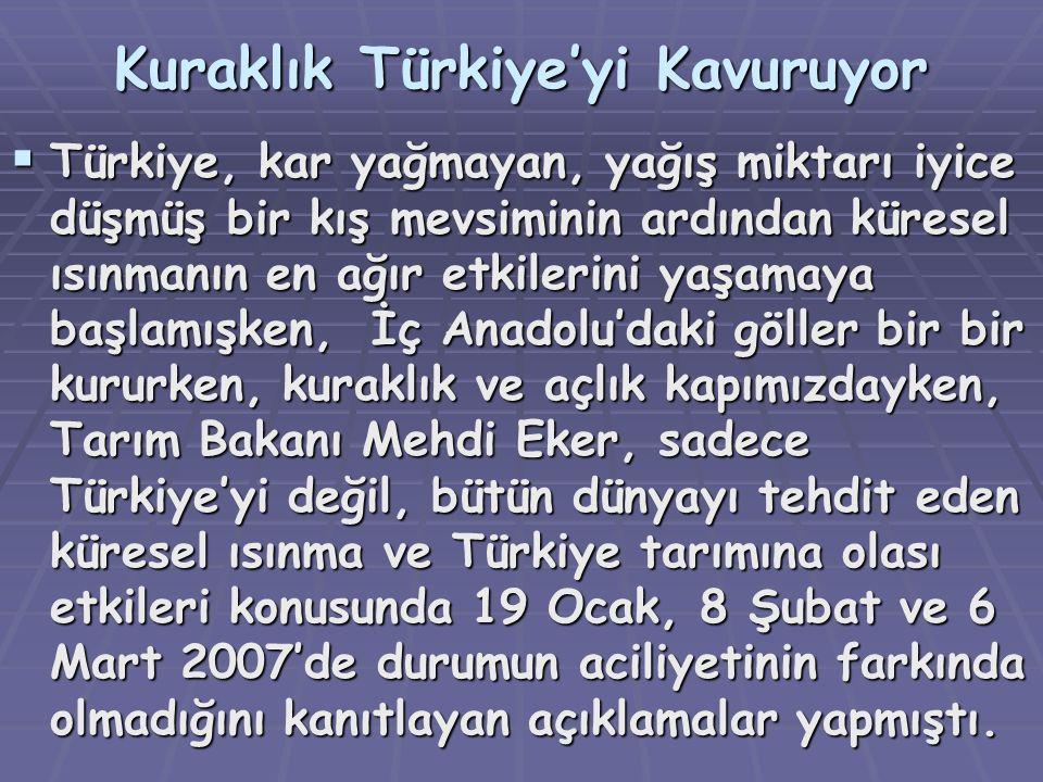 Kuraklık Türkiye'yi Kavuruyor