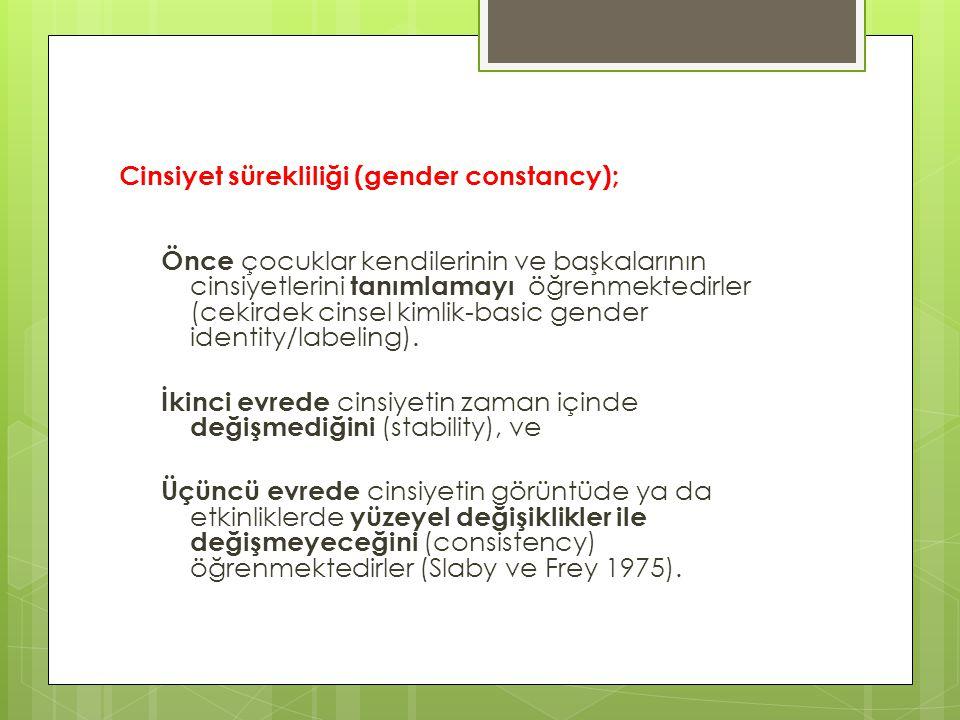 Cinsiyet sürekliliği (gender constancy);
