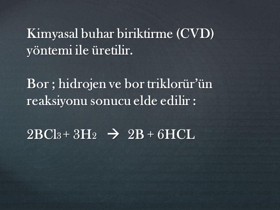Kimyasal buhar biriktirme (CVD) yöntemi ile üretilir