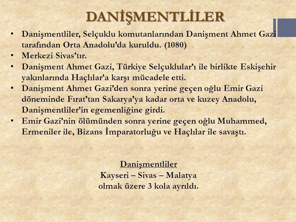 Kayseri – Sivas – Malatya olmak üzere 3 kola ayrıldı.