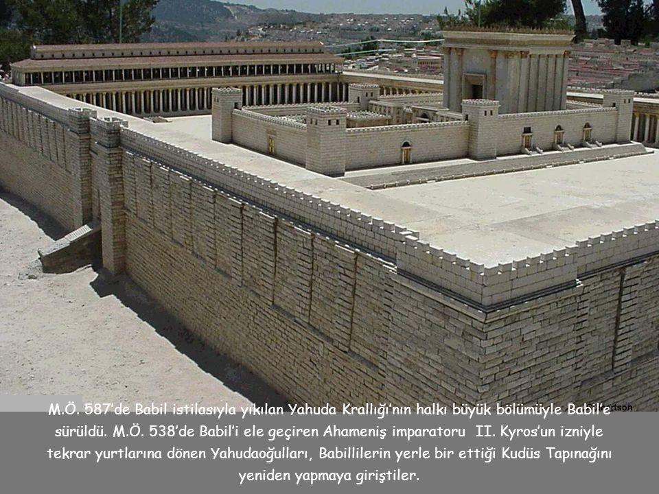 M.Ö. 587'de Babil istilasıyla yıkılan Yahuda Krallığı'nın halkı büyük bölümüyle Babil'e sürüldü.