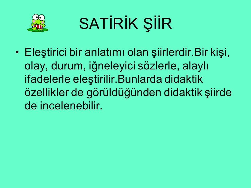 SATİRİK ŞİİR