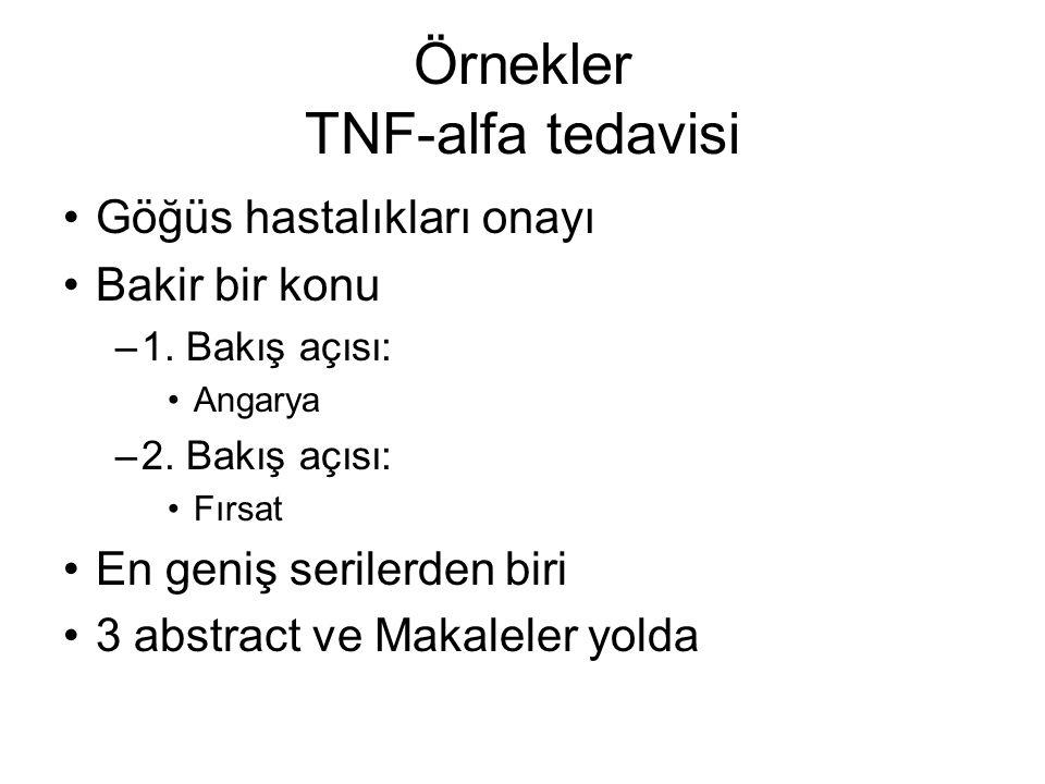 Örnekler TNF-alfa tedavisi