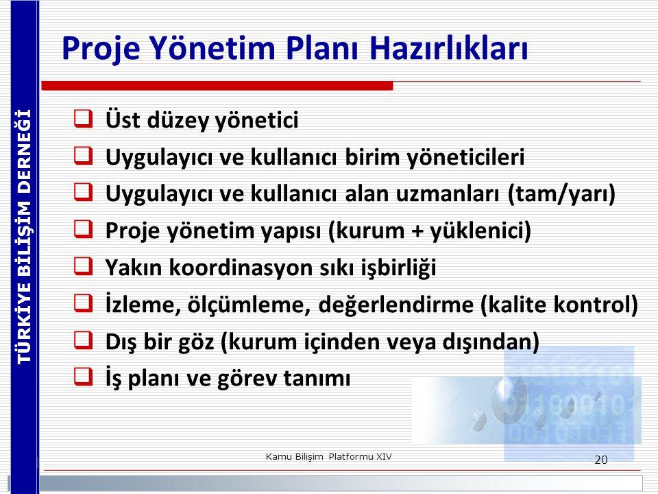 Proje Yönetim Planı Hazırlıkları