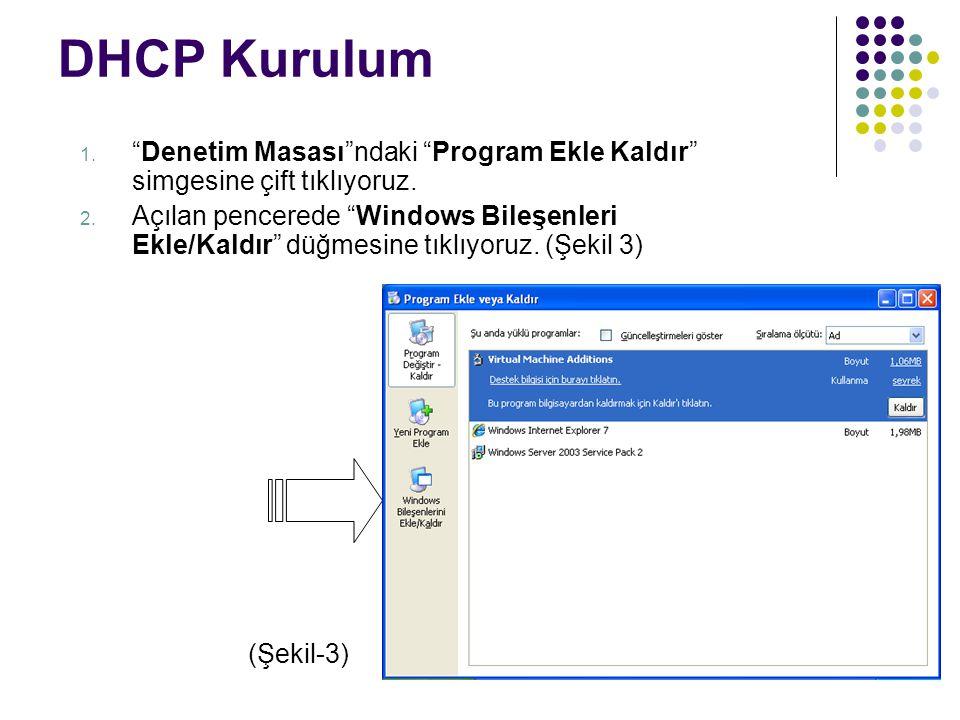 DHCP Kurulum Denetim Masası ndaki Program Ekle Kaldır simgesine çift tıklıyoruz.