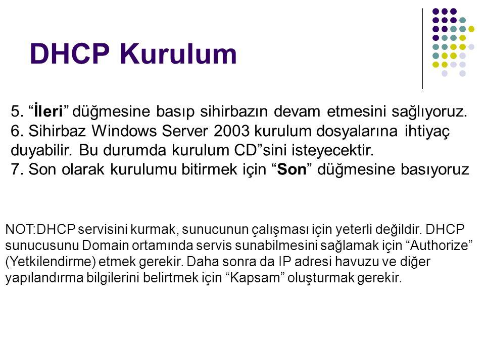 DHCP Kurulum