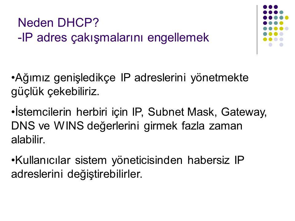 Neden DHCP -IP adres çakışmalarını engellemek