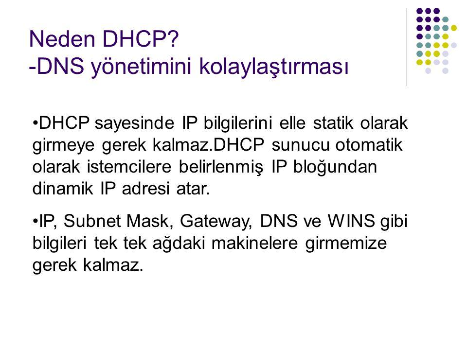 Neden DHCP -DNS yönetimini kolaylaştırması