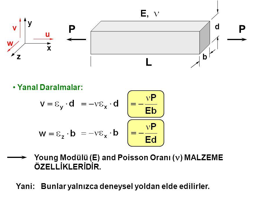 P P L y d v u w x z b Yanal Daralmalar:
