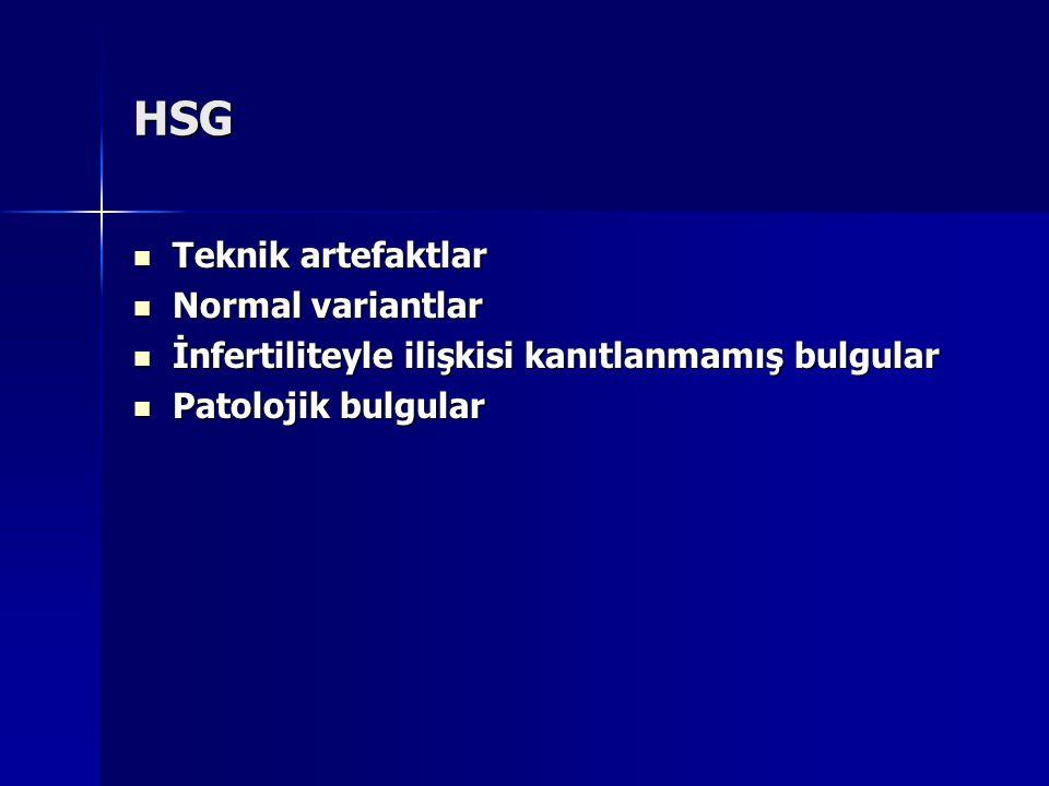 HSG Teknik artefaktlar Normal variantlar
