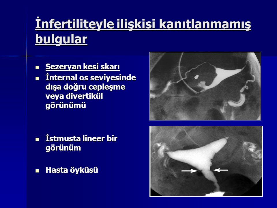 İnfertiliteyle ilişkisi kanıtlanmamış bulgular