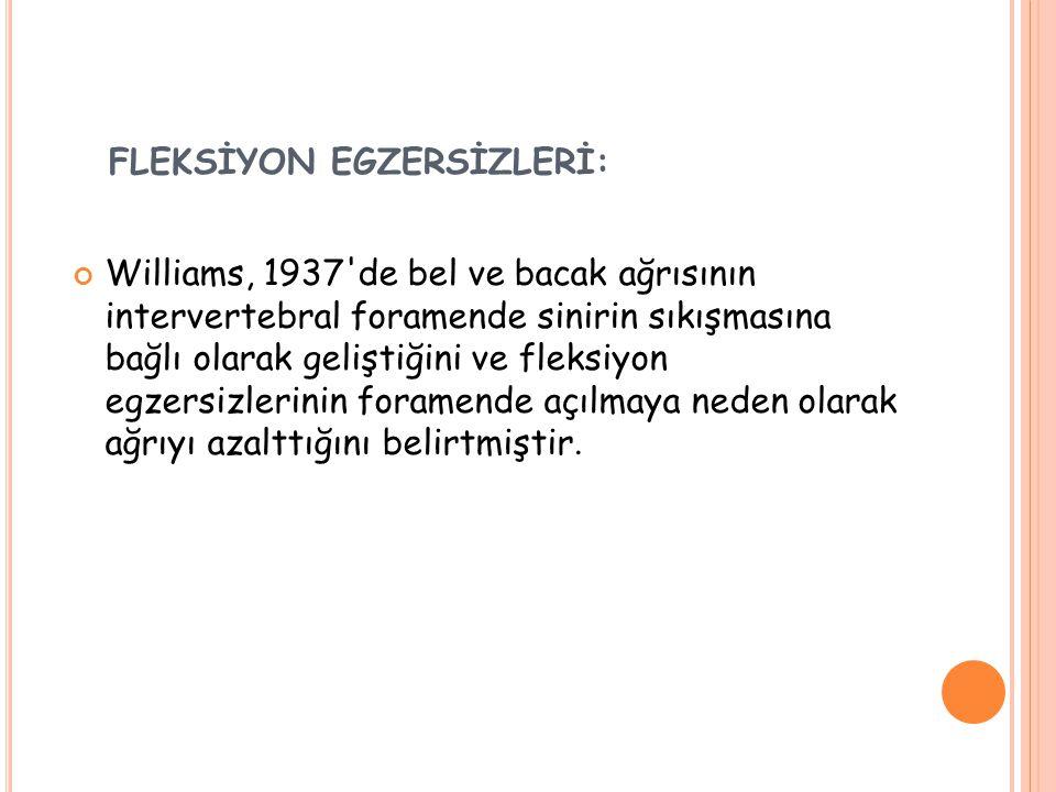 FLEKSİYON EGZERSİZLERİ: