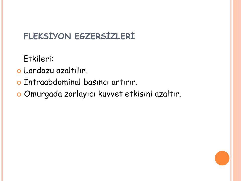 FLEKSİYON EGZERSİZLERİ