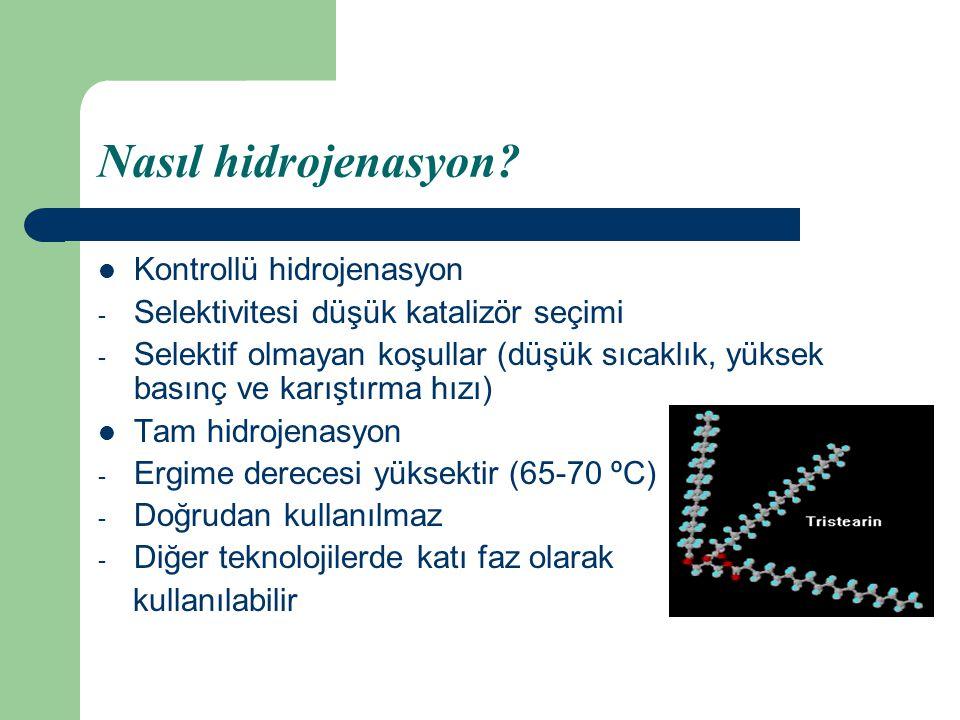Nasıl hidrojenasyon Kontrollü hidrojenasyon