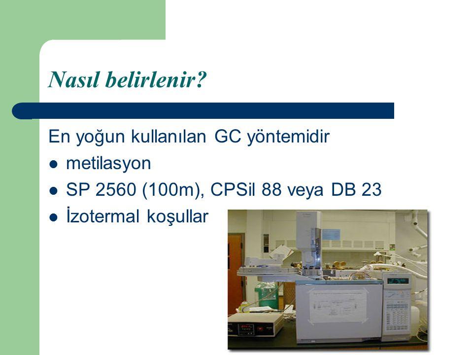 Nasıl belirlenir En yoğun kullanılan GC yöntemidir metilasyon
