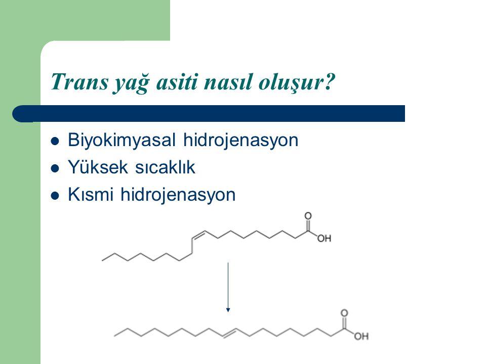 Trans yağ asiti nasıl oluşur