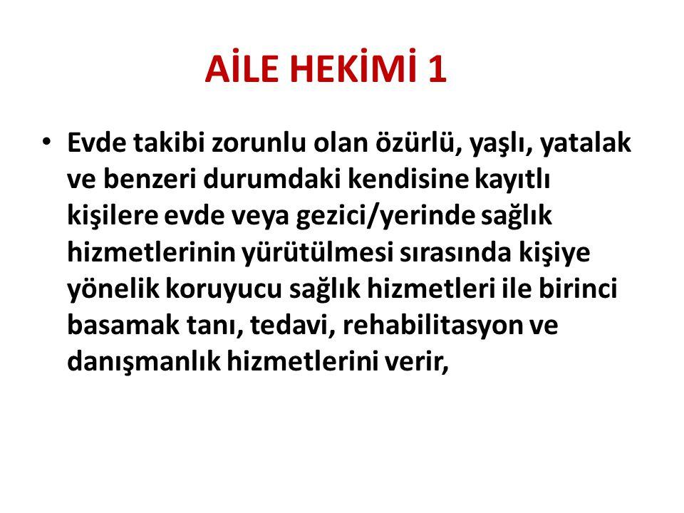 AİLE HEKİMİ 1