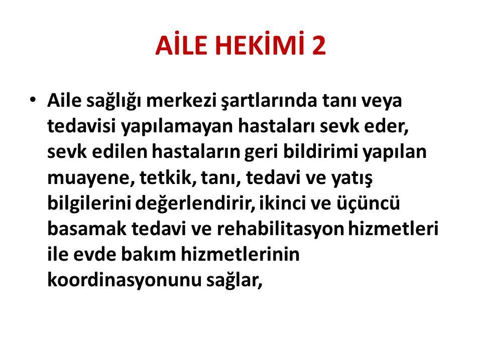 AİLE HEKİMİ 2