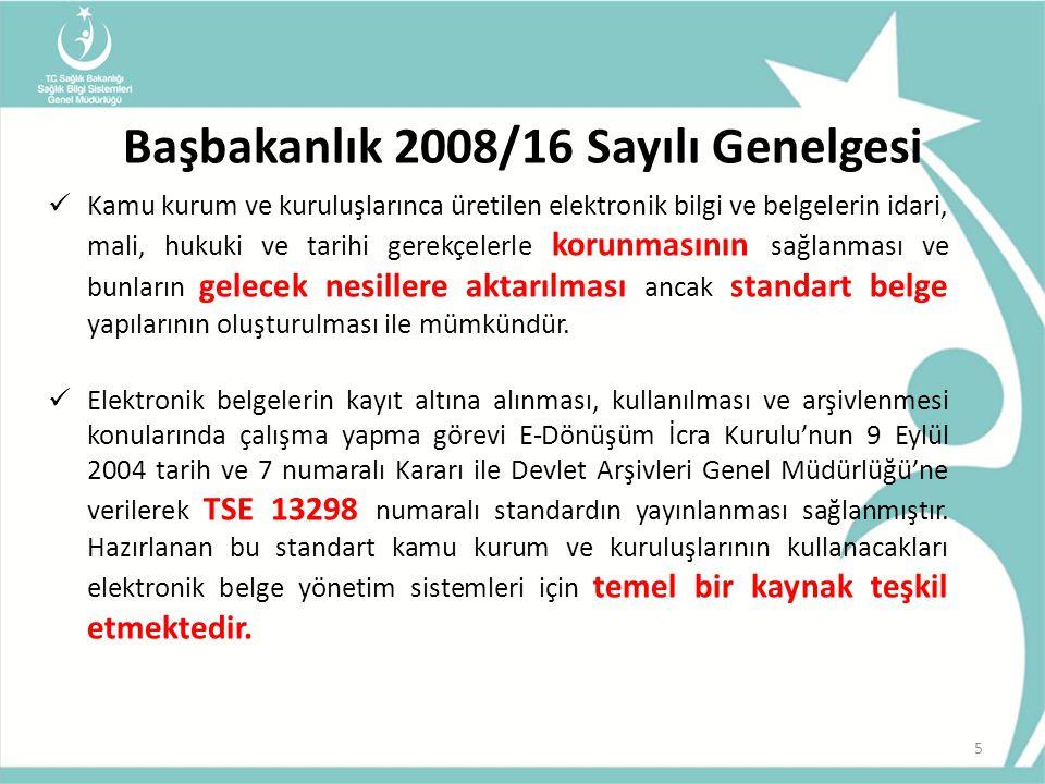 Başbakanlık 2008/16 Sayılı Genelgesi