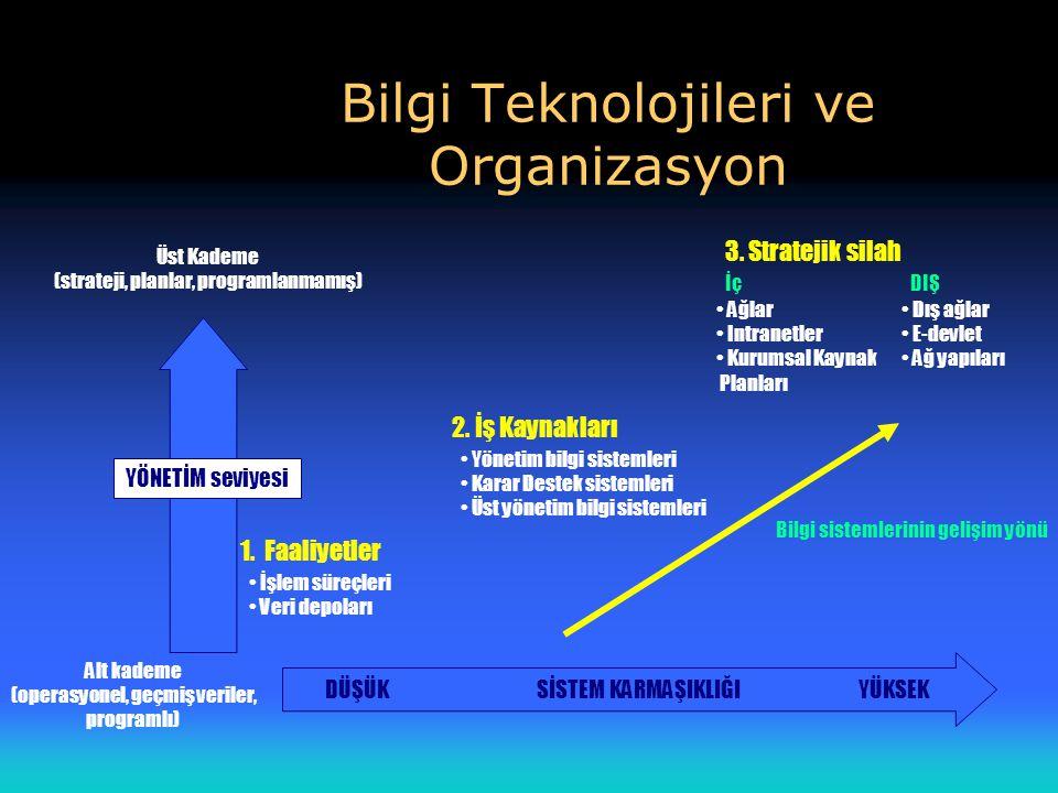 Bilgi Teknolojileri ve Organizasyon