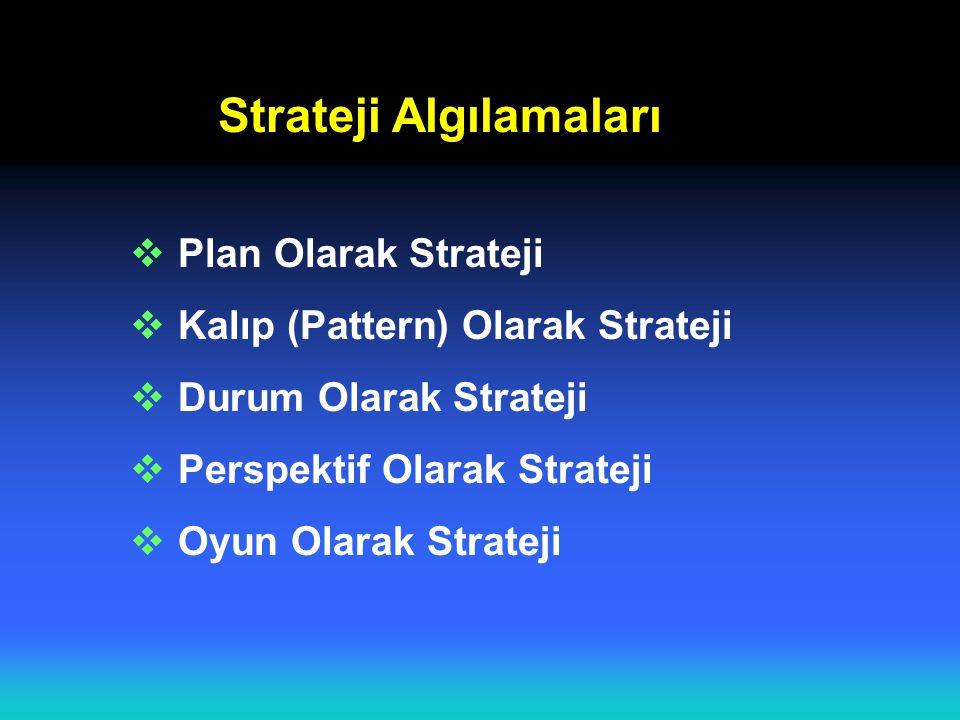 Strateji Algılamaları