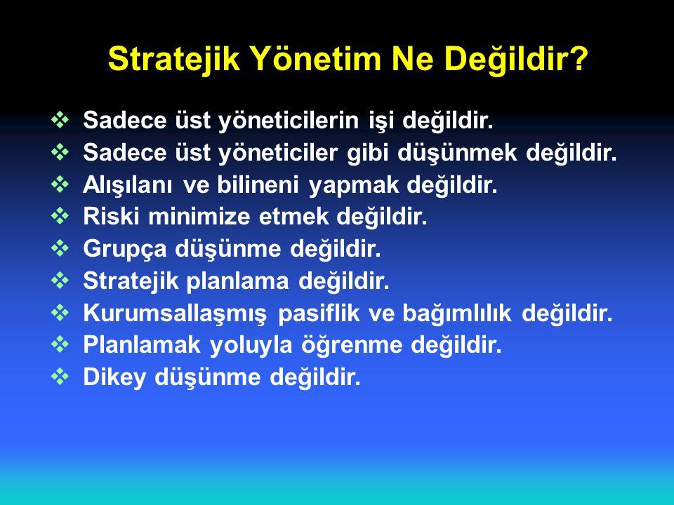 Stratejik Yönetim Ne Değildir
