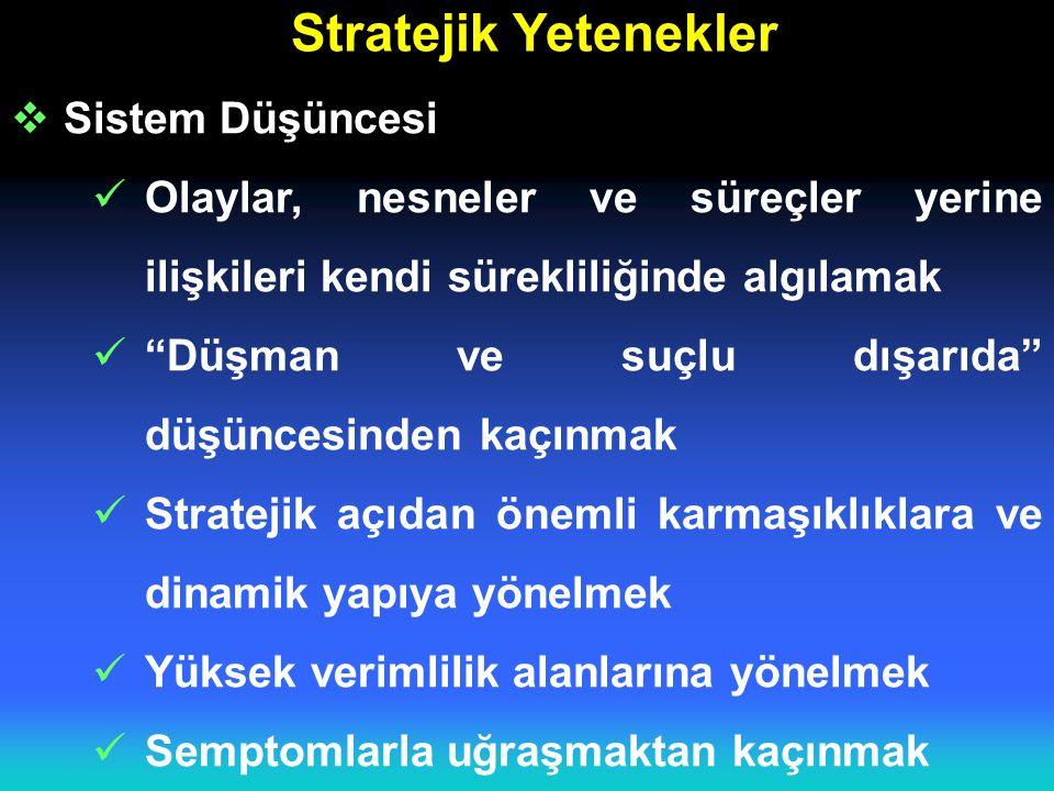 Stratejik Yetenekler Sistem Düşüncesi