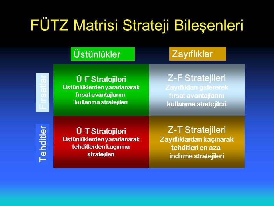 FÜTZ Matrisi Strateji Bileşenleri
