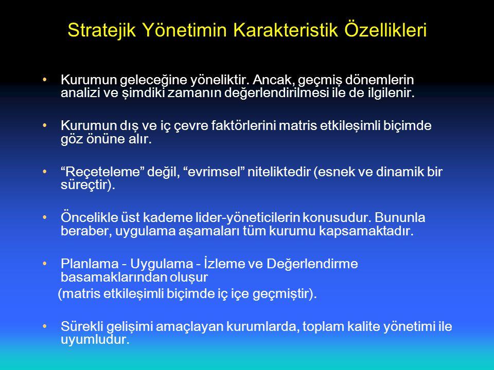 Stratejik Yönetimin Karakteristik Özellikleri