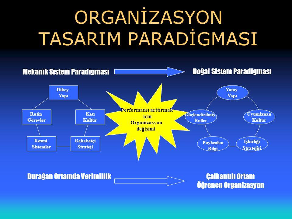 ORGANİZASYON TASARIM PARADİGMASI