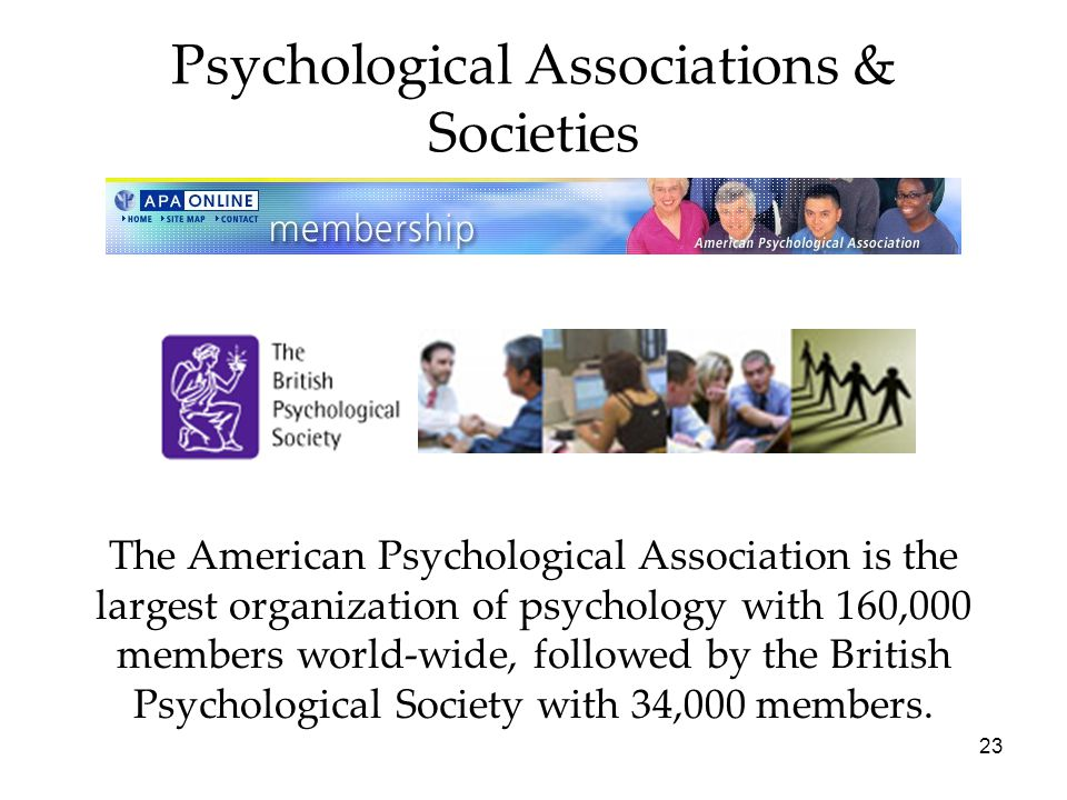 Psychological Associations & Societies