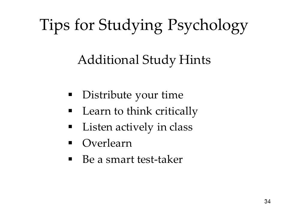 Tips for Studying Psychology