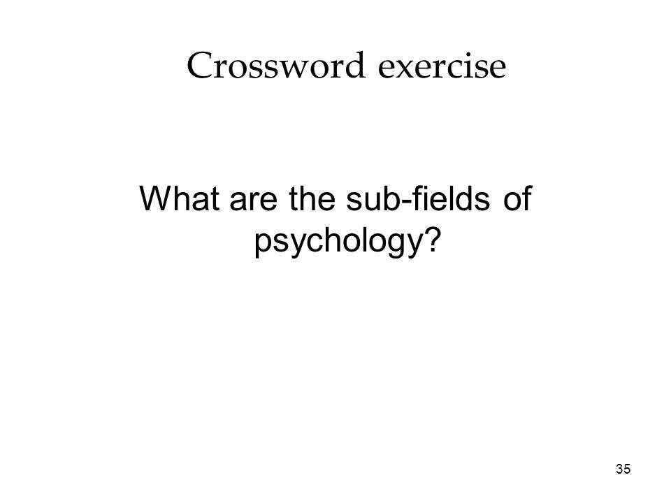 What are the sub-fields of psychology