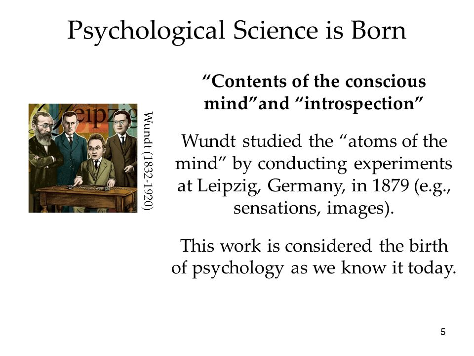 Psychological Science is Born