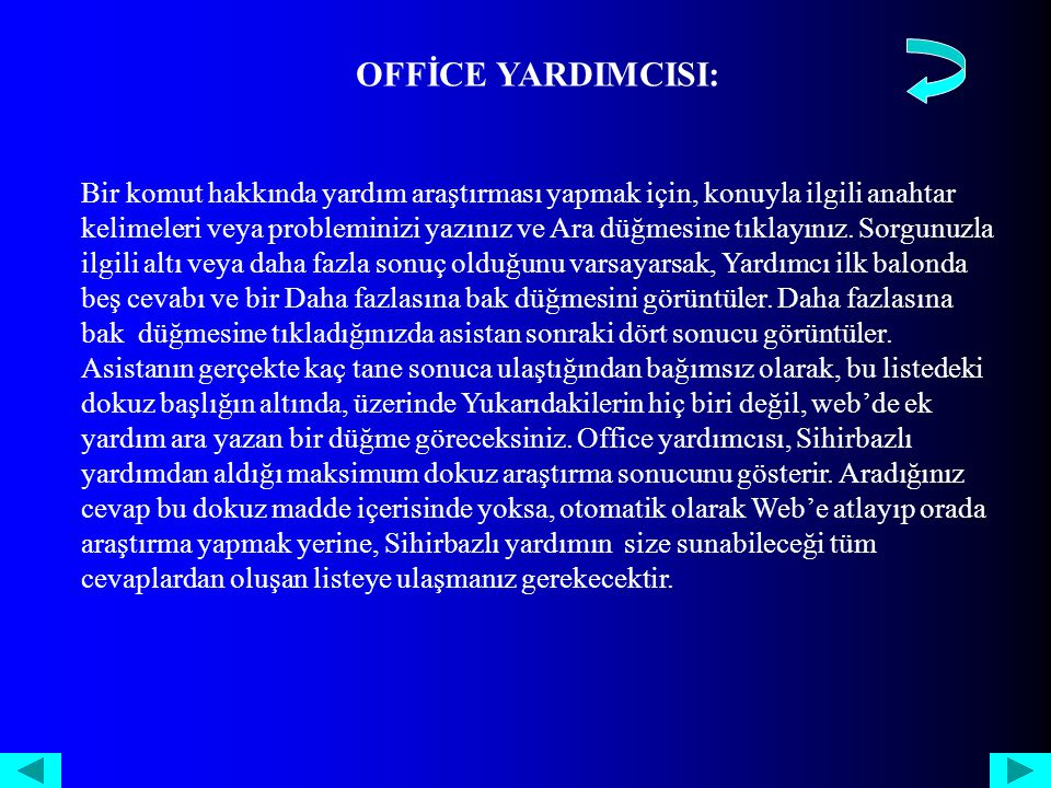 OFFİCE YARDIMCISI: