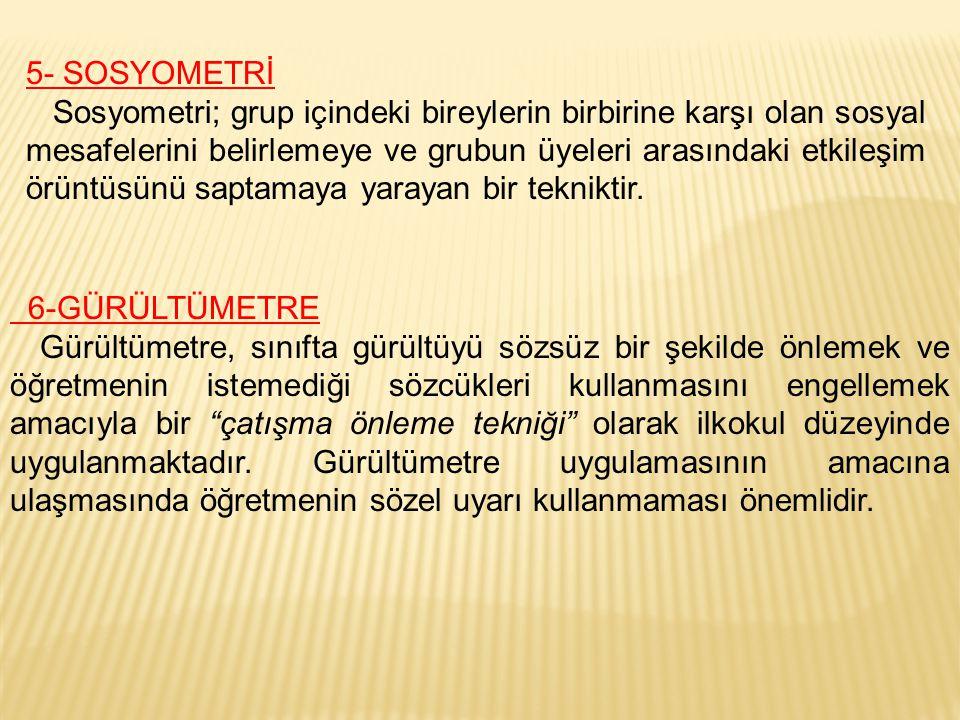 5- SOSYOMETRİ