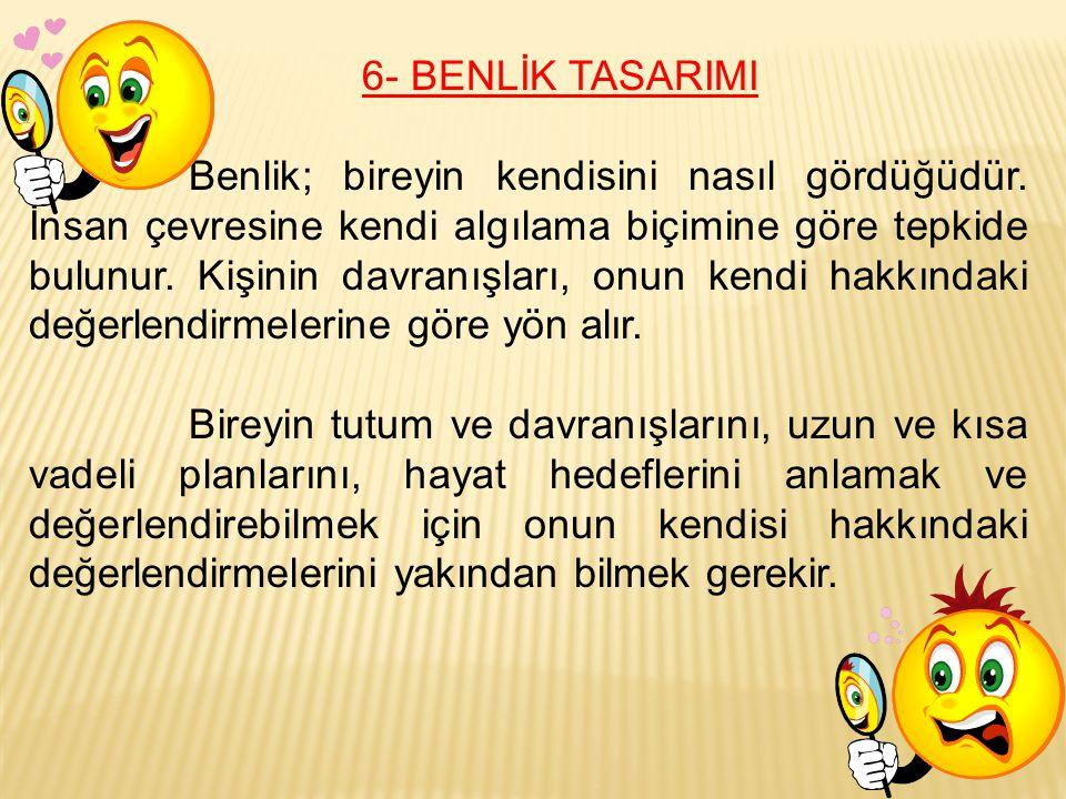 6- BENLİK TASARIMI