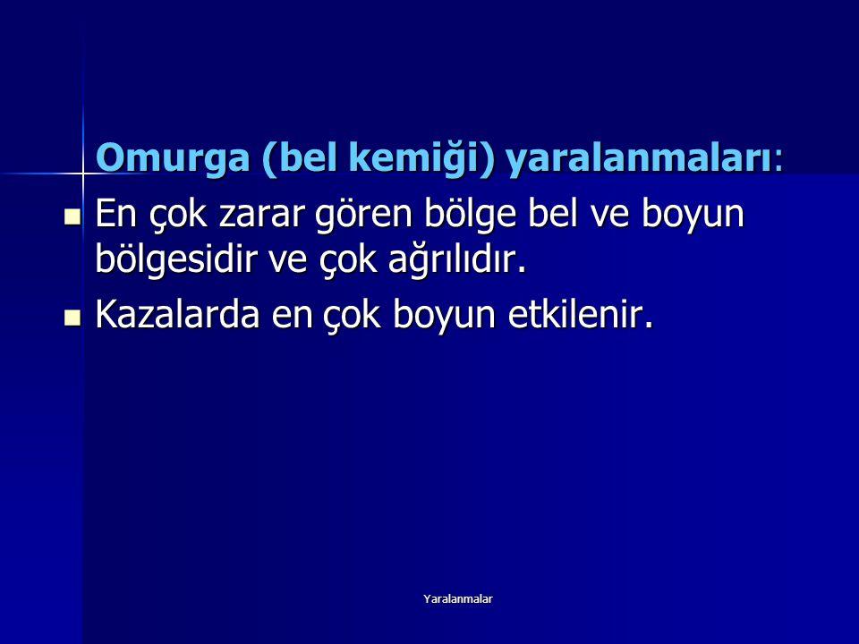 Omurga (bel kemiği) yaralanmaları:
