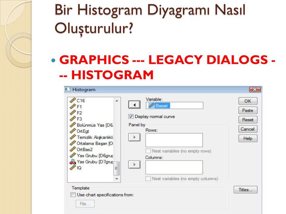 Bir Histogram Diyagramı Nasıl Oluşturulur