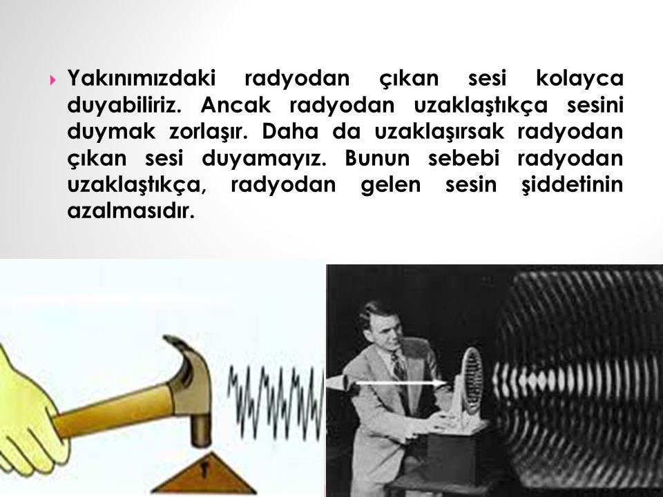 Yakınımızdaki radyodan çıkan sesi kolayca duyabiliriz