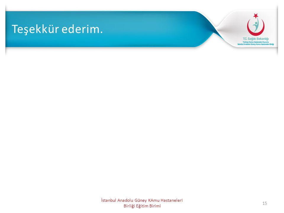 İstanbul Anadolu Güney KAmu Hastaneleri Birliği Eğitim Birimi