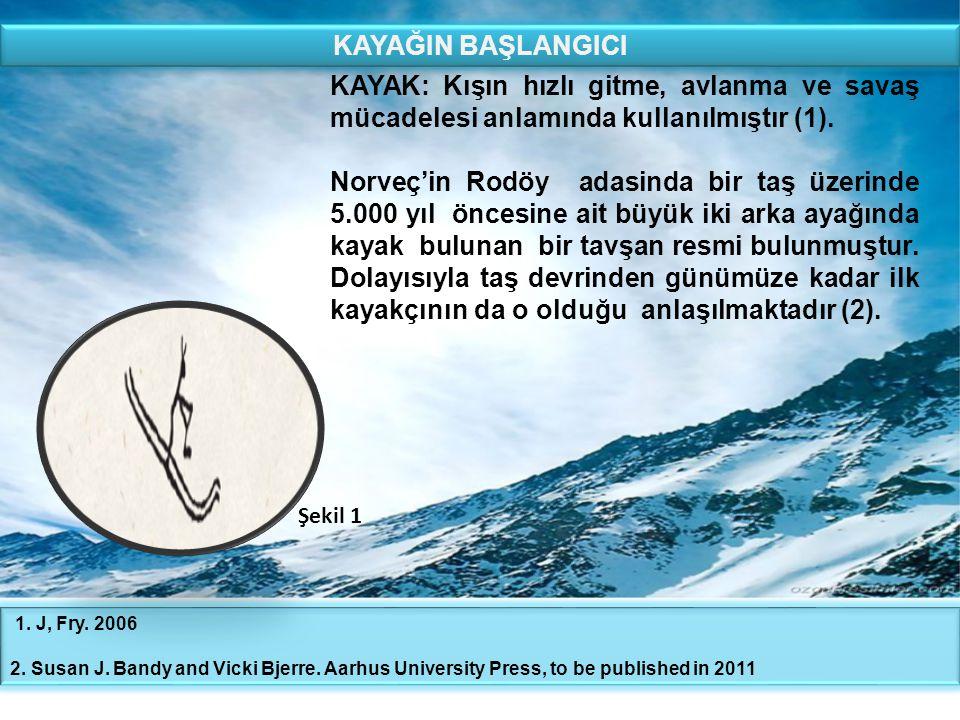 KAYAĞIN BAŞLANGICI KAYAK: Kışın hızlı gitme, avlanma ve savaş mücadelesi anlamında kullanılmıştır (1).