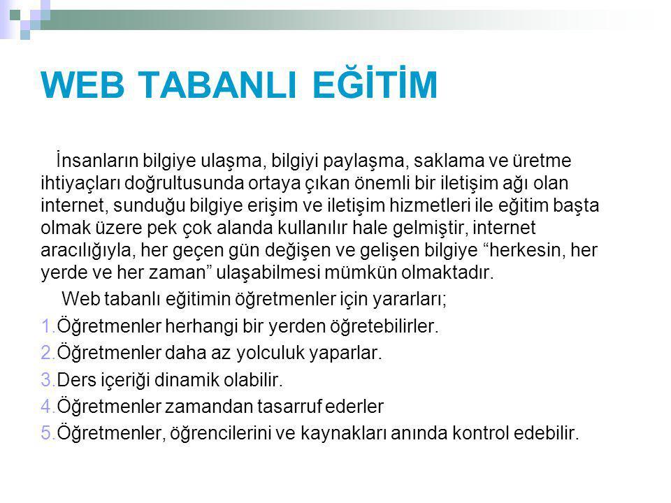 WEB TABANLI EĞİTİM