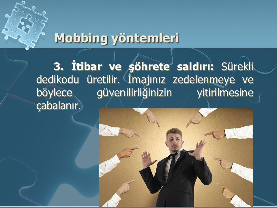 Mobbing yöntemleri