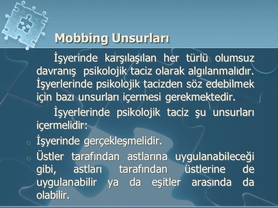 Mobbing Unsurları
