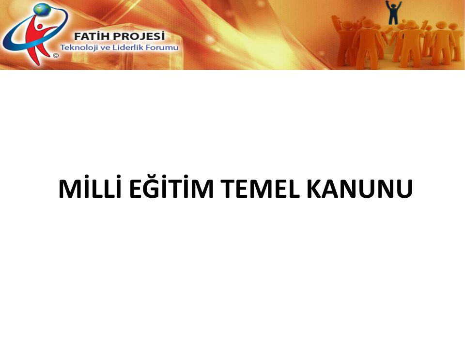 MİLLİ EĞİTİM TEMEL KANUNU