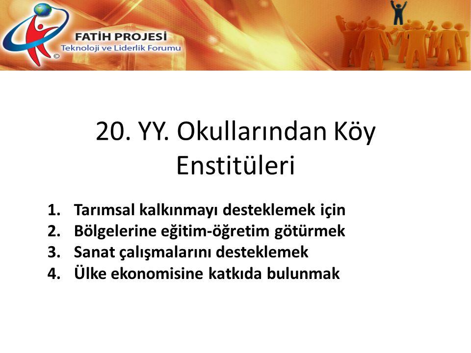 20. YY. Okullarından Köy Enstitüleri