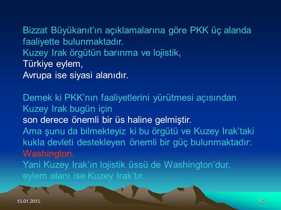 Bizzat Büyükanıt'ın açıklamalarına göre PKK üç alanda