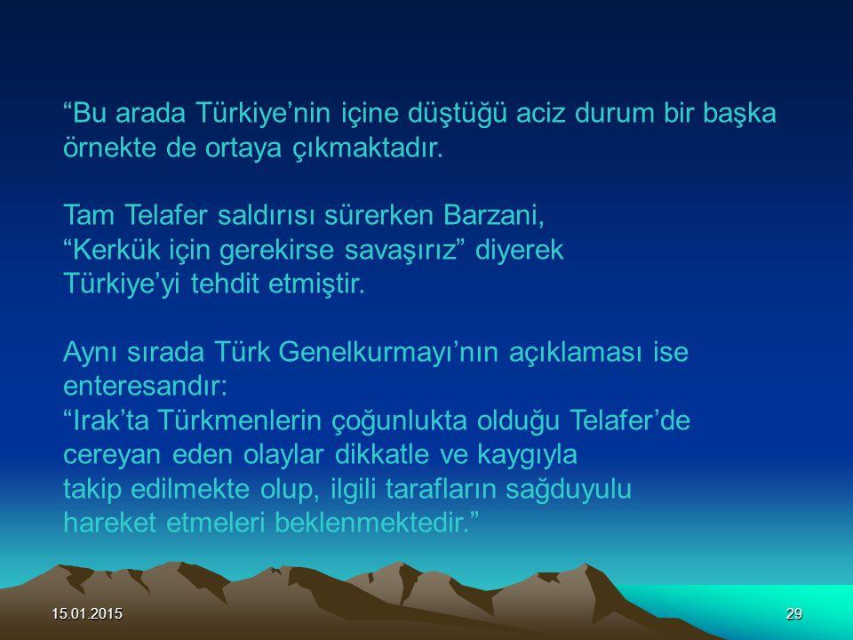 Bu arada Türkiye'nin içine düştüğü aciz durum bir başka
